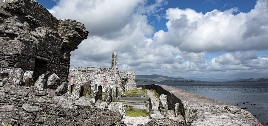 Ballinskelligs abbey on the skellig monks trail ballinskelligs